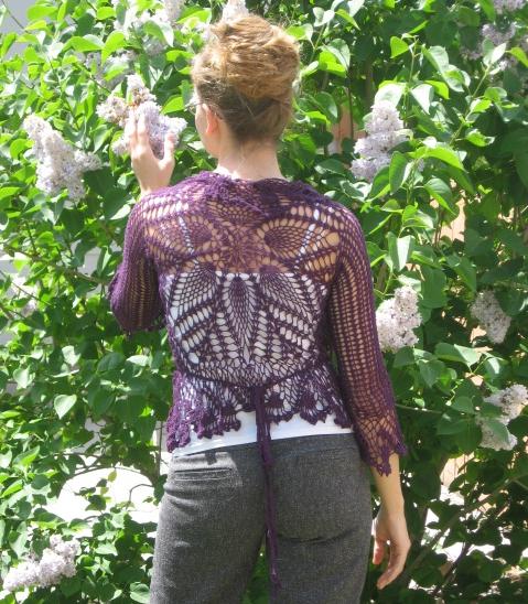 Petals Wrap Cardigan crocheted by Brittney