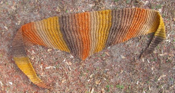 Sunrise Slip Stitch Shawl by Anastacia E. Zittel