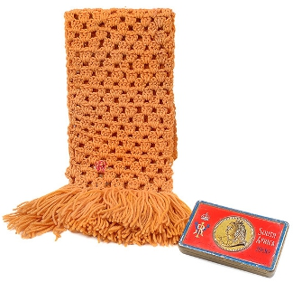 A scarf crocheted by Queen Victoria