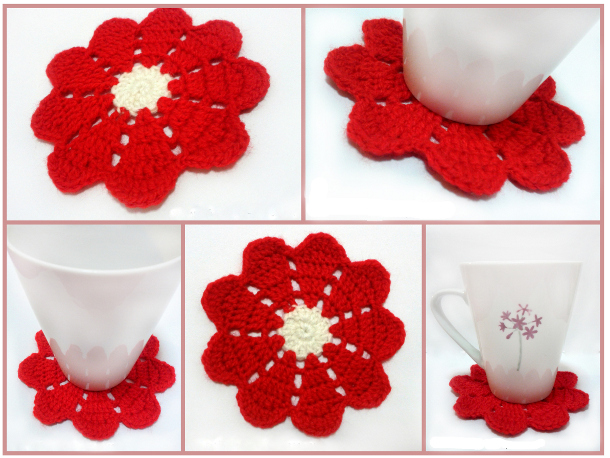 9 Petals Flower Doily by Khin