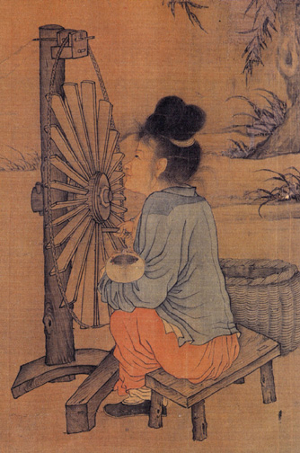 Wang Juzheng's Spinning Wheel, ca. 1000 AD