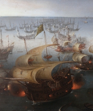 Day seven of the battle with the Armada by Vroom Hendrick Cornelisz, 1588