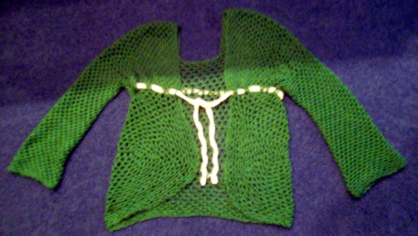 Mossy Lattice Cardigan by Bonnie Irene