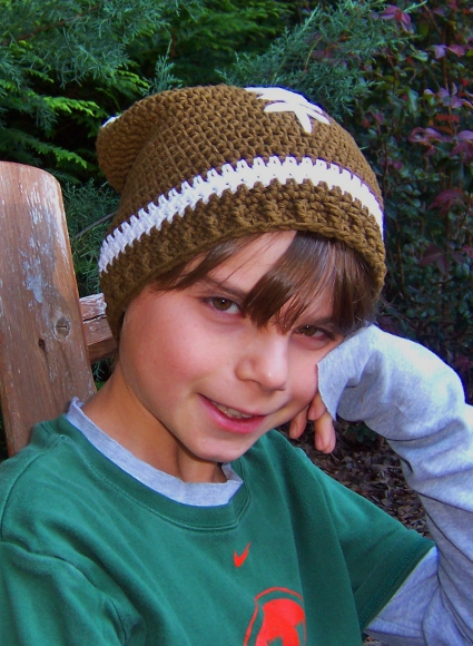Slouchy Football Hat by Darleen Hopkins