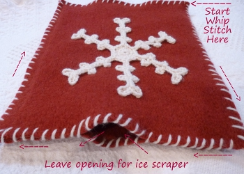 Snowflake Ice Scraper Mitt by Darleen Hopkins