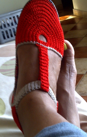 Crocheted Shoes by Mrs. Catherine Boshego