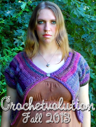 Fall 2013 Crochetvolution - Violets Cardi by Melissa Mall