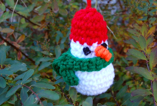 Simple Snowman Ornament by Melissa Mall