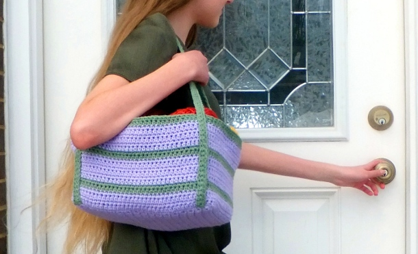 Lilac and Sage Tote Bag by Sarah Gomez