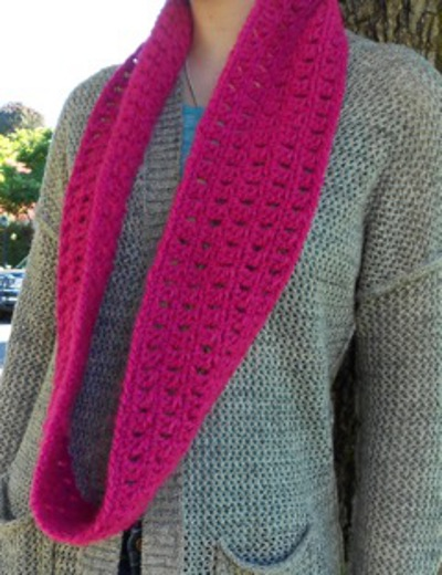 Clusters Infinity Scarf by Claire G.