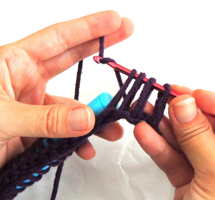 How to Crochet Broomstick Lace